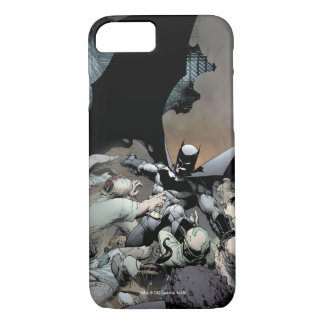 Coque iPhone 7 Batman combattant des ennemis de voûte