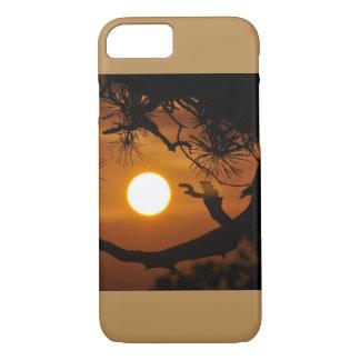 Coque iPhone 7 Beau coucher du soleil Behinde l'image naturelle