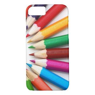 Coque iPhone 7 Beau motif multicolore de crayon de couleur