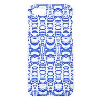Coque iPhone 7 Blanc moderne de la BG de coutume de bleu des