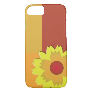 Coque iPhone 7 Bloc de couleur de tournesol