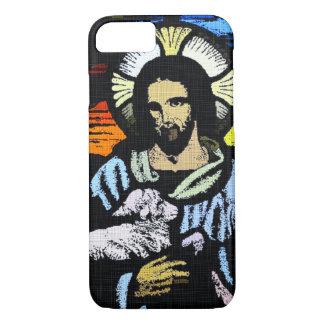 Coque iPhone 7 Bonne copie d'art de denim de berger de St John