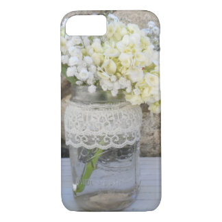 Coque iPhone 7 Bouquet de pot de maçon