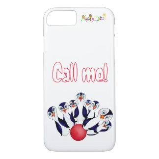 Coque iPhone 7 Bowling heureux et Penguinpins par les élém.
