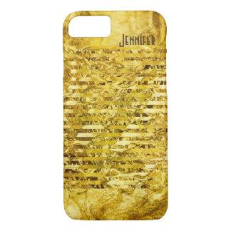 Coque iPhone 7 Brillant simulé de papier de feuille d'or