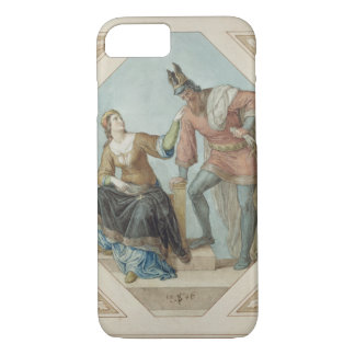 Coque iPhone 7 Brunhilde et Hagen, illustration pour 'le Niebelu