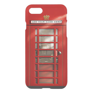 Coque iPhone 7 Cabine de téléphone rouge britannique drôle