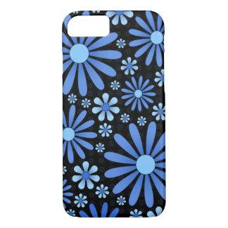 Coque iPhone 7 Caisse bleue de téléphone de flower power
