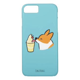 Coque iPhone 7 Caisse de fouet de Dole d'ananas de corgi (secret)