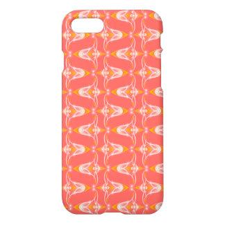 Coque iPhone 7 Caisse florale rouge de motif