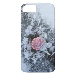 Coque iPhone 7 Caisse gelée de cellules de rose de rose de