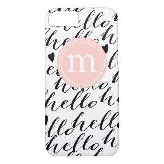 Coque iPhone 7 Caisse Girly de bonjour personnalisée