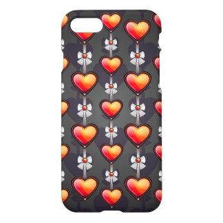 Coque iPhone 7 Caisse mignonne de coeurs