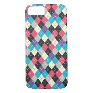 Coque iPhone 7 Caisse multicolore à motifs de losanges