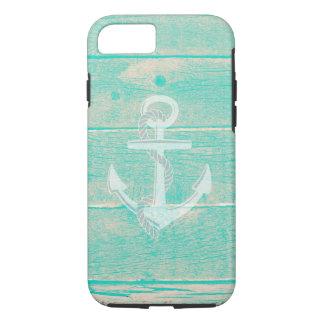 Coque iPhone 7 Caisse nautique en bois affligée de l'iPhone 7