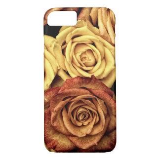 Coque iPhone 7 Caisse romantique de rose jaune
