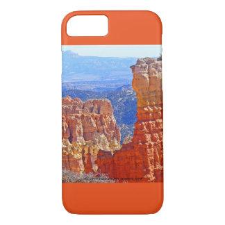Coque iPhone 7 Caisse rouge de l'iPhone 7 de tour de roche