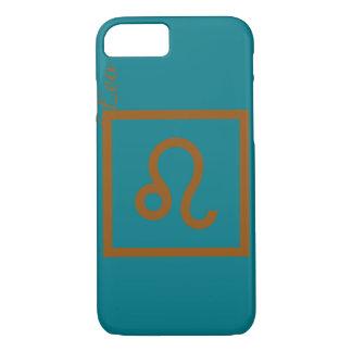 Coque iPhone 7 Caisse verte et brune de téléphone de Lion de