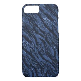Coque iPhone 7 Camo bleu rayé