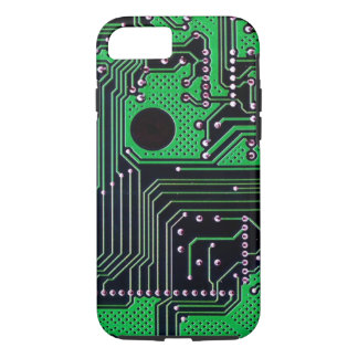 Coque iPhone 7 Carte (carte PCB) - couleur verte