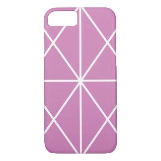Coque iPhone 7 Cas/blanc et rose Simple-Rayés