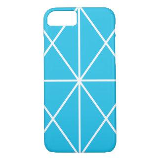 Coque iPhone 7 Cas/bleu et blanc Simple-Rayés