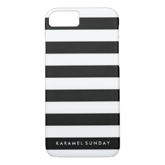 Coque iPhone 7 cas de l'iPhone 6/6s - noir nautique de signature