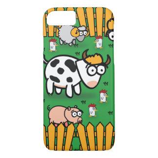 Coque iPhone 7 cas de l'iPhone 7 à la ferme d'animaux drôle