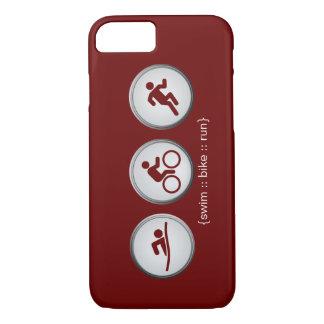 Coque iPhone 7 Cas de l'iPhone 7 de Bain-Vélo-Run de triathlon