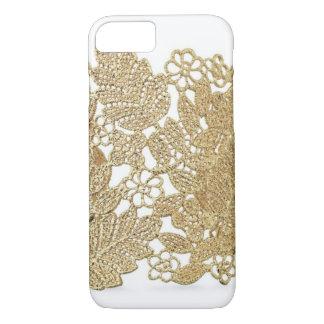 Coque iPhone 7 Cas de l'iPhone 7 de dentelle d'or d'Artandra