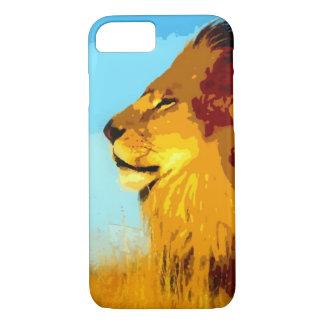 Coque iPhone 7 Cas de l'iPhone 7 de lion d'art de bruit