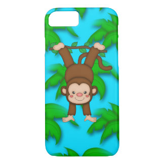 Coque iPhone 7 Cas de l'iPhone 7 de singe à peine là