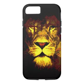 Coque iPhone 7 Cas de l'iPhone 7 du Roi Lion Eyes d'art de bruit
