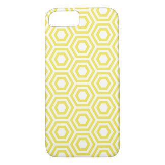 Coque iPhone 7 Cas de motif d'hexagone de miel