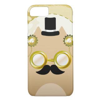 Coque iPhone 7 Cas de smartphone de chat de Steampunk
