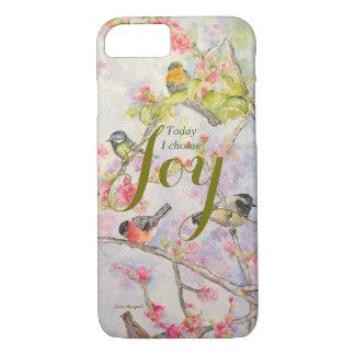 Coque iPhone 7 Cas de téléphone d'art d'aquarelle d'oiseaux