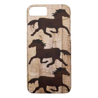 Coque iPhone 7 Cas en bois rustique de l'iPhone 7 de cowboy