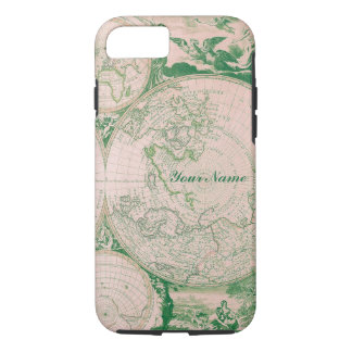 Coque iPhone 7 Cas français de l'iPhone S5 de carte du monde de