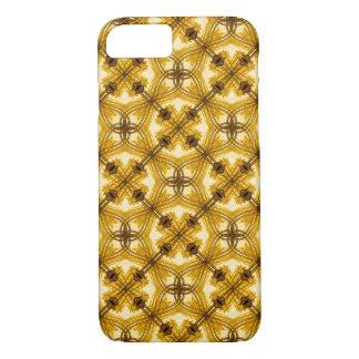 Coque iPhone 7 Cas géométrique de l'iPhone 6 de motif d'or