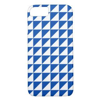 Coque iPhone 7 Cas géométrique moderne de l'iPhone 7 de bleu de