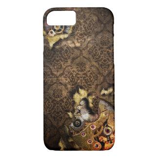 Coque iPhone 7 cas grunge de Brown Steampunk de l'iPhone 7