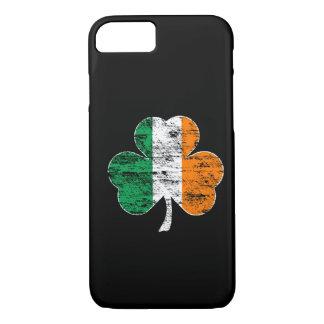 Coque iPhone 7 Cas irlandais de l'iPhone 7 de shamrock de drapeau