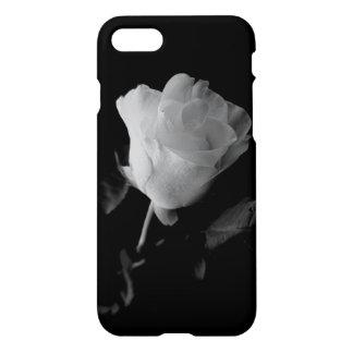 Coque iPhone 7 Cas isolé de rose, noir et blanc
