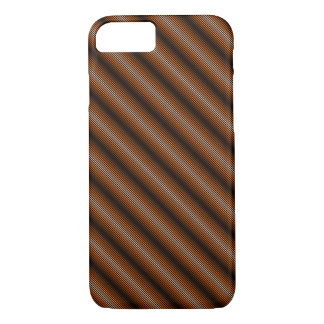 Coque iPhone 7 Cas Mince-Rayé de téléphone de gradient (Brown)