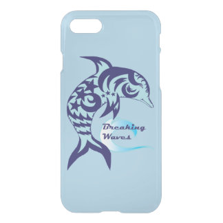 Coque iPhone 7 Cas réfléchi de téléphone de dauphin tribal