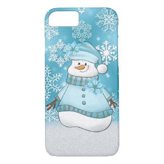 Coque iPhone 7 Cas sept des vacances huit de femme de neige de