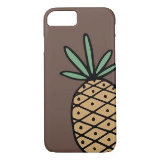 Coque iPhone 7 Cas tiré par la main de téléphone d'ananas
