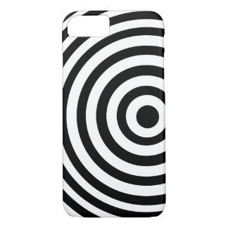 Coque iPhone 7 Cible noire et blanche décentrée
