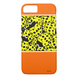 Coque iPhone 7 Coccinelle jaune