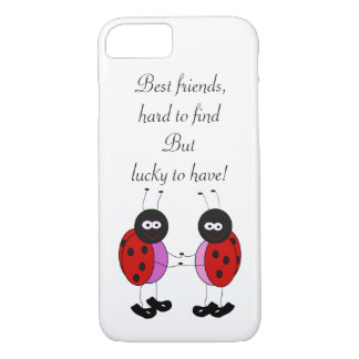 Coque iPhone 7 Coccinelles de meilleurs amis